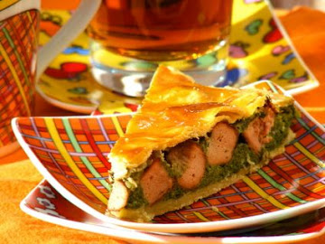 Pie de Queijo, Salsichas de Soja e Espinafres
