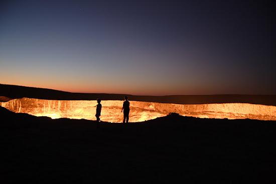 A Porta do Inferno no Turquemenistão