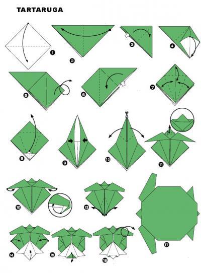 Tartaruga em Origami