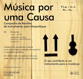 """""""Música por uma causa"""" leva instrumentos a Moçambique"""