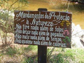 Mandamentos de Proteção da Natureza