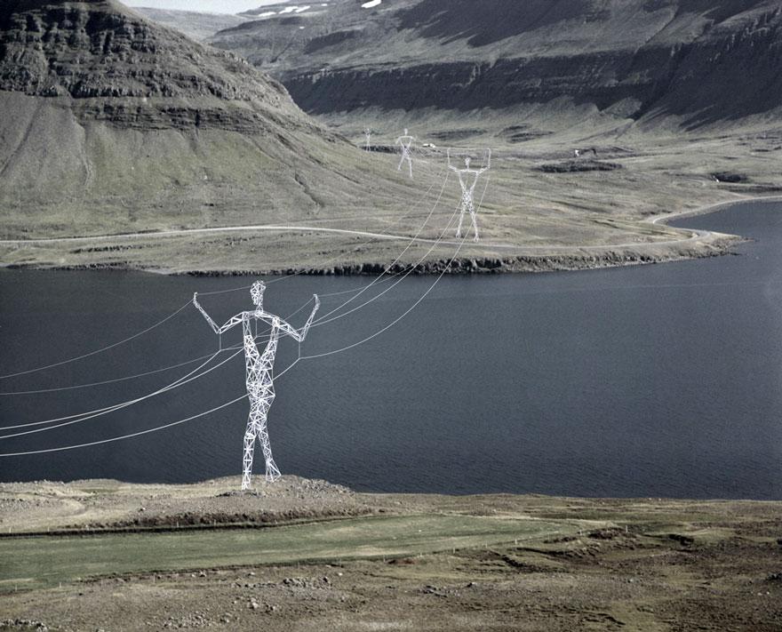 Arquitetos Transformam Postes Elétricos em Gigantes Humanos