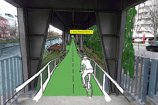 """Berlim Vai Ter uma Ciclovia Coberta com Hortas e Pavimento """"Inteligente"""" [vídeo]"""