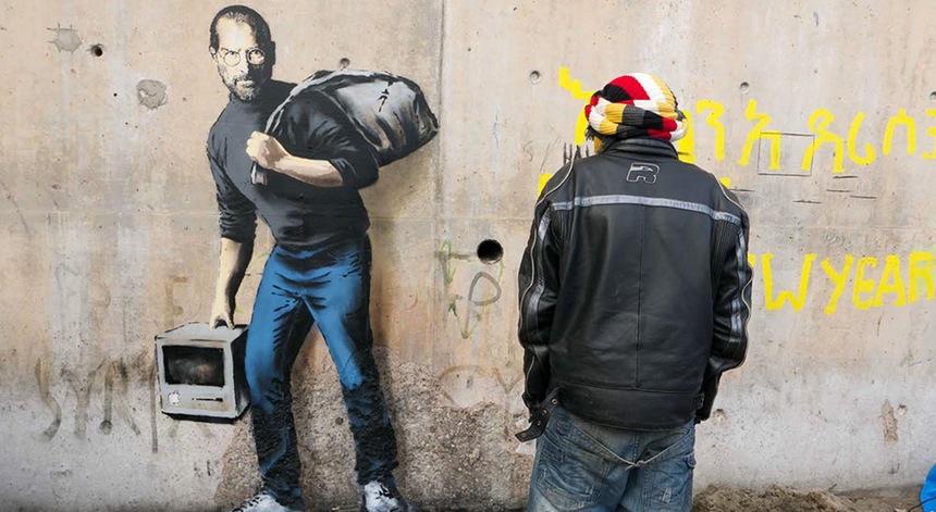 Steve Jobs, o Refugiado Sírio – Banksy
