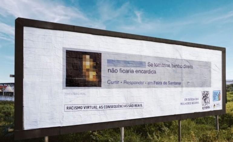Mensagens de Racismo Virtual Tornam-se Outdoors  [Vídeo]