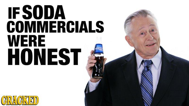 Se os Anúncios das Bebidas Gaseificadas Fossem Honestos [Vídeo]