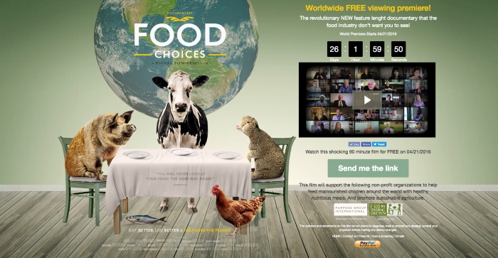 Food Choices, o Novo Documentário sobre a Alimentação