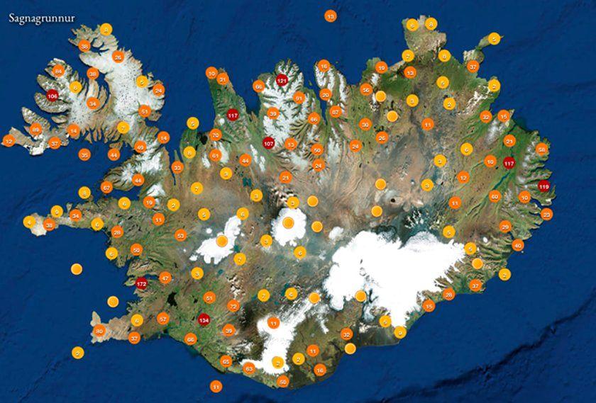 Mapa para Encontrar Elfos e Outros Seres Fantásticos na Islândia