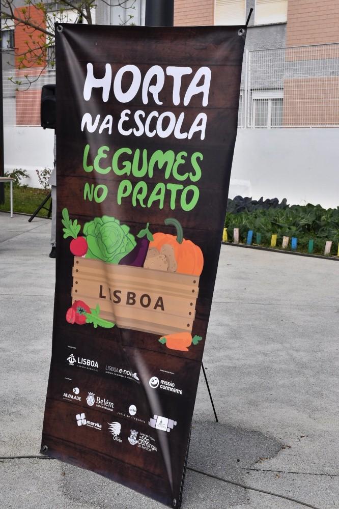 Banner do Hortas na Escola... Legumes no Prato