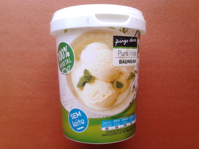 Produtos experimentados: Gelado 100% Vegetal de baunilha do Pingo Doce, sem lactose