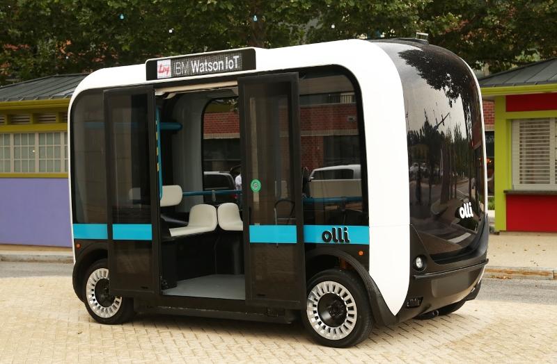 Olli, o miniautocarro elétrico fabricado numa impressora 3D