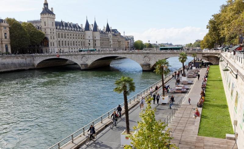 Paris vai ter uma via sem carros ao longo do Rio Sena