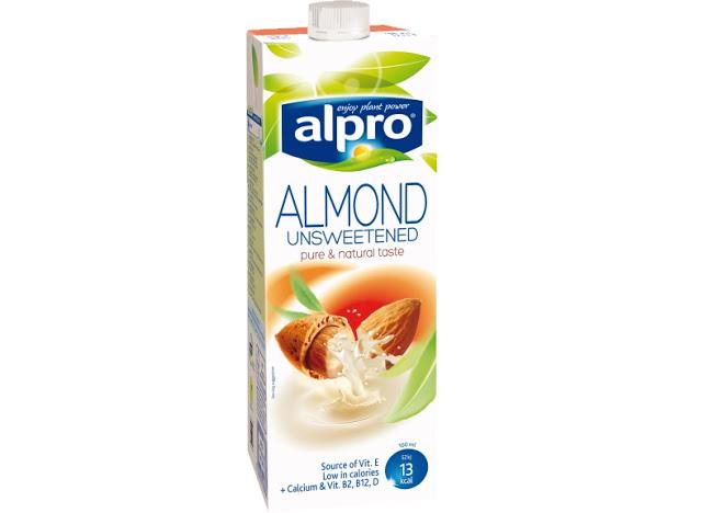 Produtos experimentados: Bebida de Amêndoa sem Açúcar da Alpro