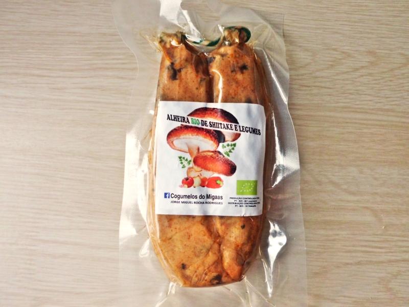 Produtos experimentados: Alheira Bio de shiitake e legumes – Cogumelos do Migaas