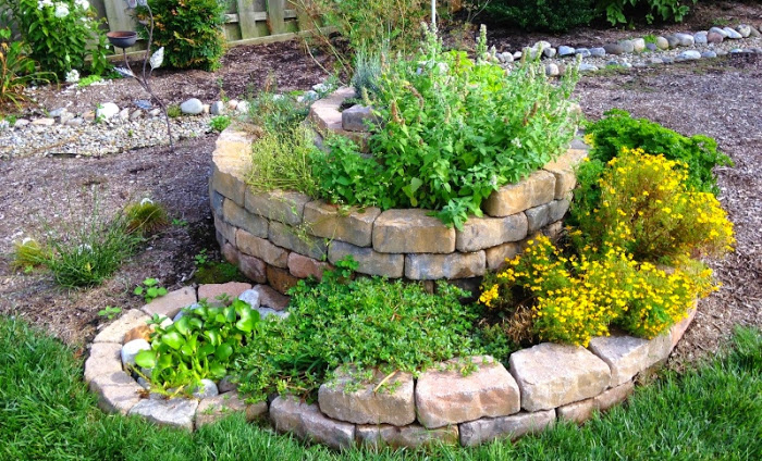 Espiral de ervas aromáticas
