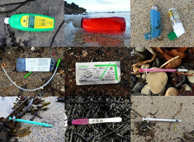 Lixo hospitalar encontrado nas praias