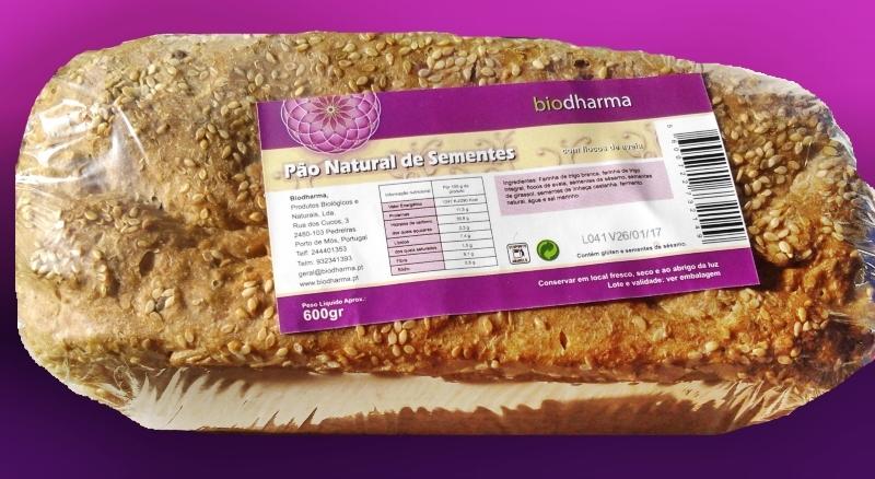Produtos experimentados: Pão natural de sementes – Biodharma