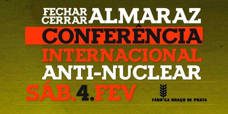 """""""Fechar Almaraz"""" – Conferência Internacional Antinuclear – 4 de fevereiro"""