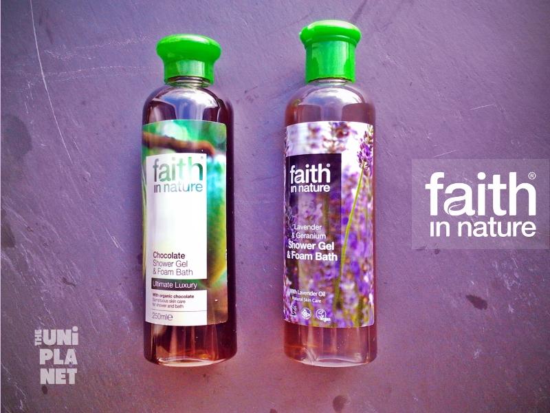 Produtos experimentados: Gel Duche de Chocolate e de Alfazema e Gerânio – Faith in Nature