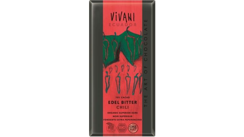 Produtos experimentados: Chocolate Escuro com Chili Bio – Vivani