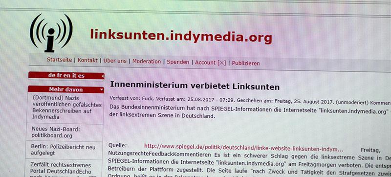 Governo alemão proibiu site da rede Indymedia