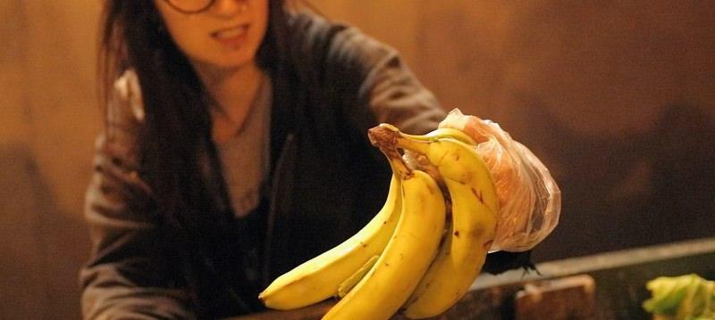 Bananas no lixo