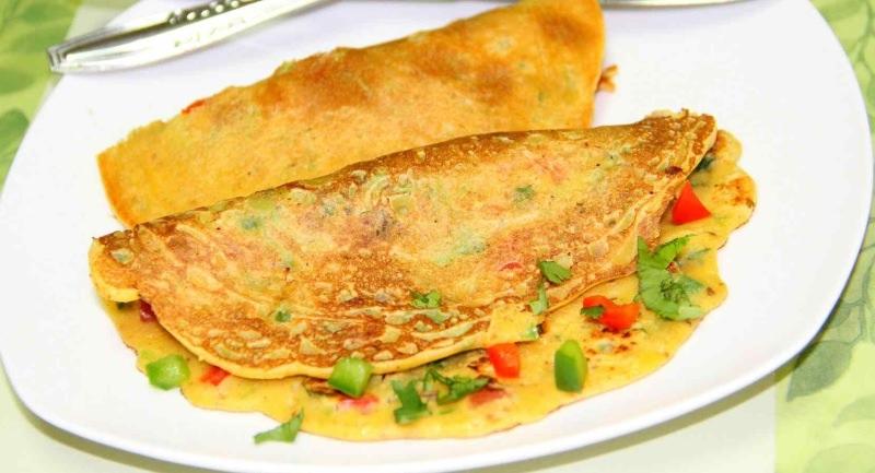 6 receitas de grãomelete – omelete de grão-de-bico vegan, sem ovos [vídeos]