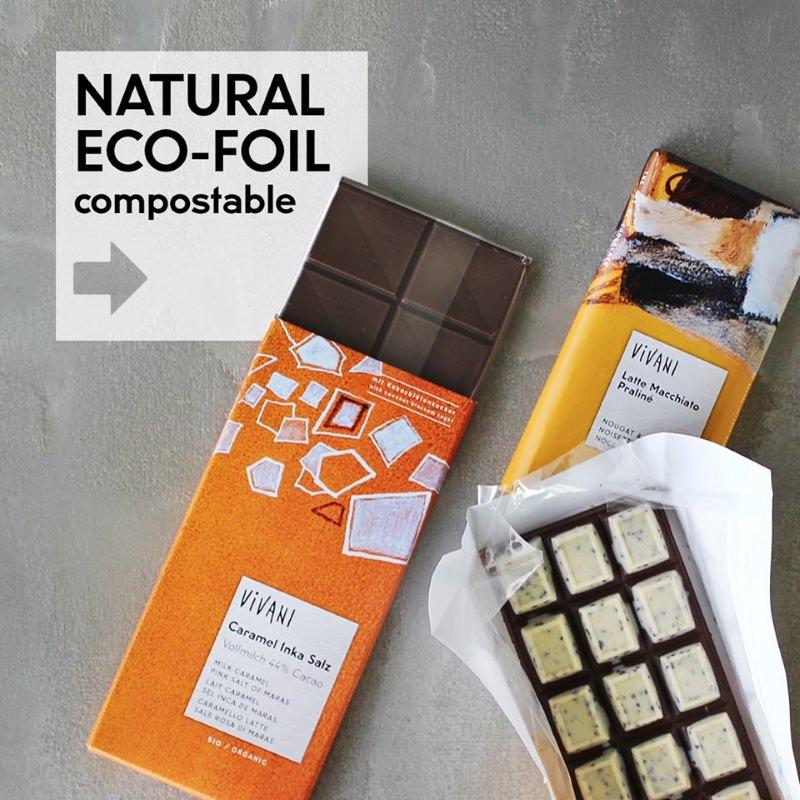 Marca de chocolate diz adeus ao alumínio e passa a usar embalagens biodegradáveis