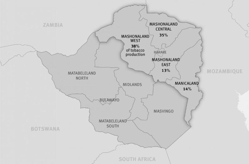 Mapa do Zimbabwe