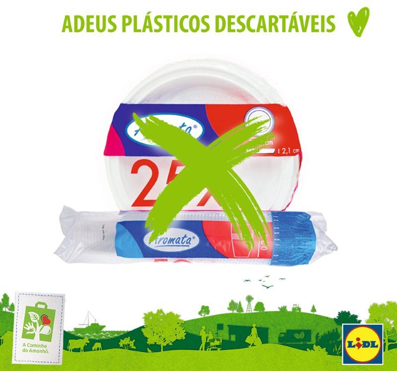 Lidl deixa de vender plásticos descartáveis em Portugal
