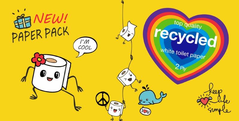 Renova lança papel higiénico sem embalagem de plástico