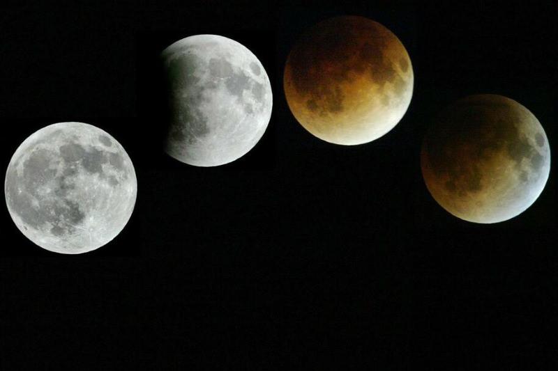 Hoje há eclipse total da Lua