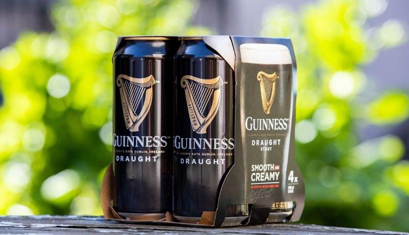 Guinness vai deixar de usar plástico nos packs de cerveja