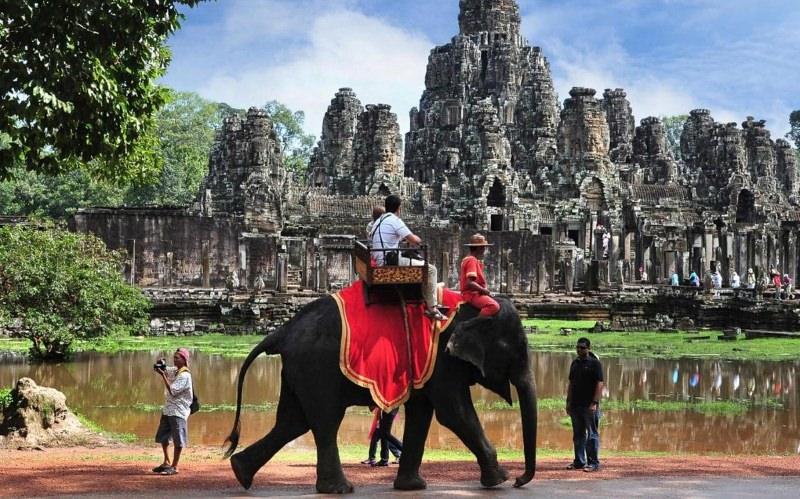 Passeios de elefante proibidos em visitas ao templo de Angkor Wat