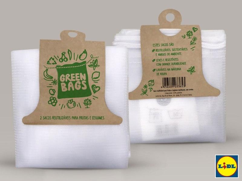 Lidl passou a disponibilizar sacos reutilizáveis para fruta e legumes