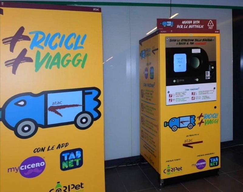 Roma: viagens do metro pagas com garrafas de plástico