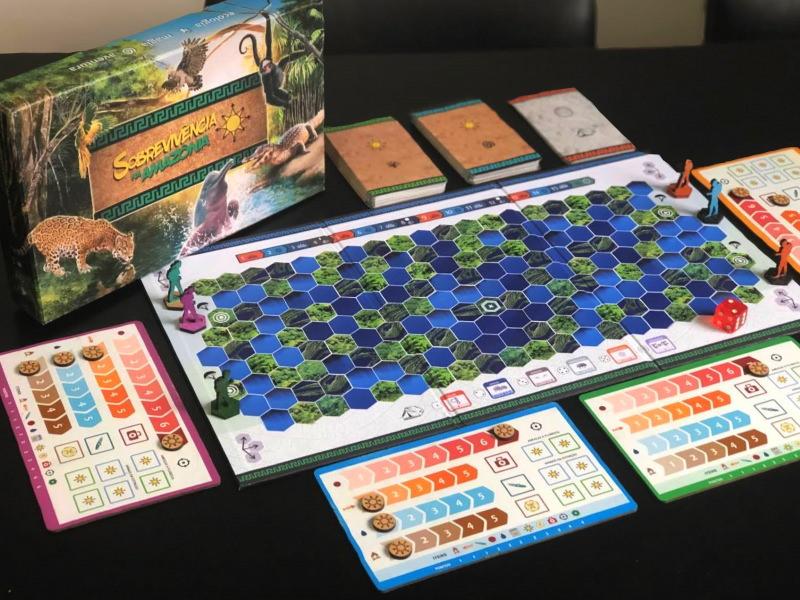Sobrevivência na Amazônia: um jogo de tabuleiro que junta aventura e ecologia