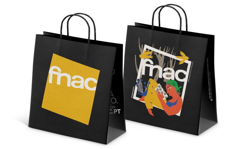 Fnac troca sacos plásticos por sacos de papel ilustrados