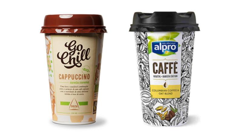 Para os amantes de cappuccinos já existem duas opções vegan: Delta e Alpro