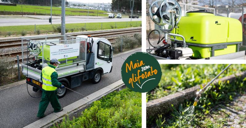 Maia investe em solução ecológica pioneira em Portugal para controlo de vegetação infestante