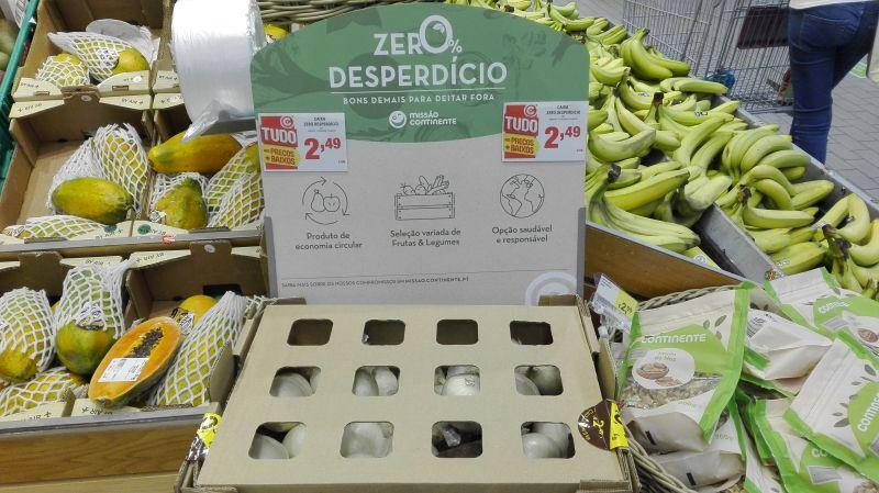 Caixa Zer0% Desperdício no Continente: legumes a 50 cêntimos por quilo