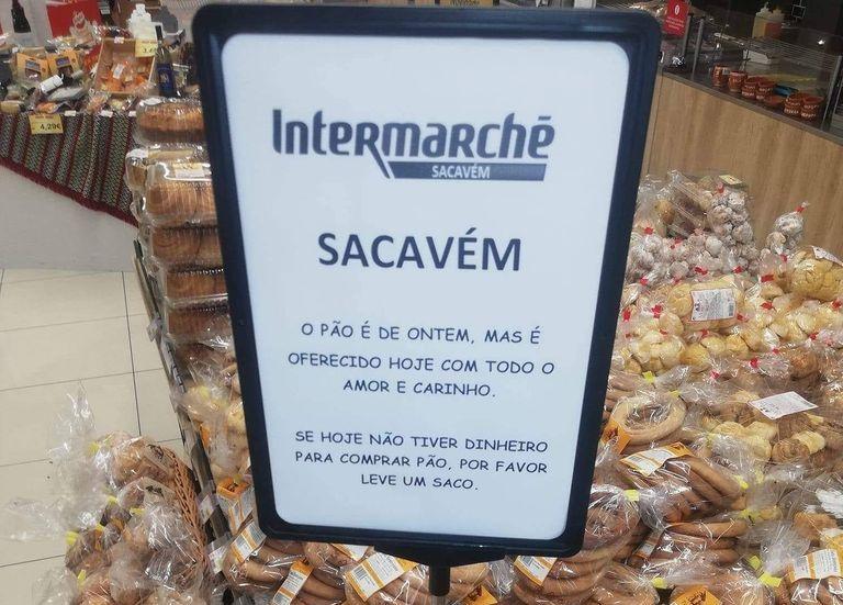 Intermarché de Sacavém disponibiliza pão do dia anterior gratuitamente