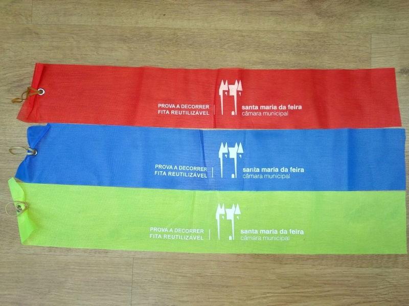 Santa Maria da Feira trocou fitas de marcação de plástico por tecido em eventos desportivos
