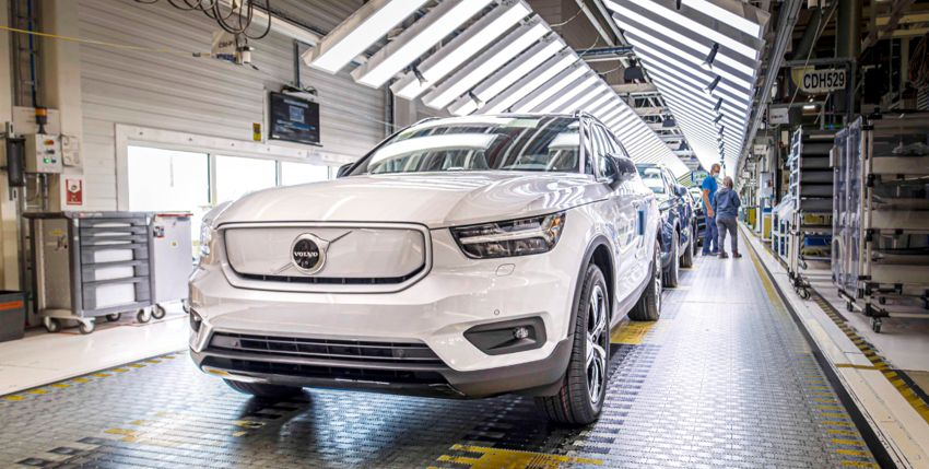 Volvo Cars começou a produzir o seu primeiro modelo 100% elétrico