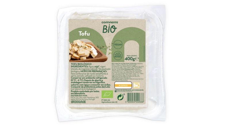 O Continente também já tem tofu da sua própria marca