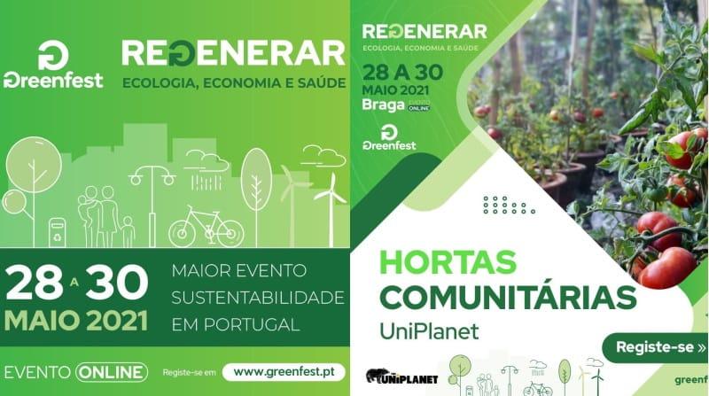O UniPlanet vai participar no Greenfest para falar sobre hortas comunitárias dia 30 de maio