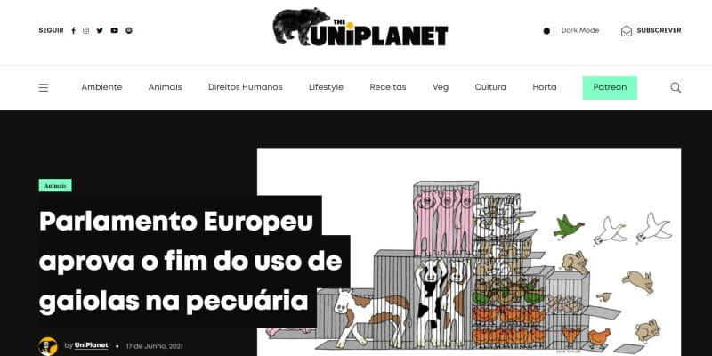 O UniPlanet tem um novo site